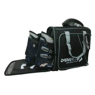 Driver13 ski boot bag with helmet compartment and backpack system (2020) black-gray